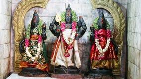 Una estatua de las esposas de Lord Murugan And His Two, Valli And Deivayanai la diosa hindú en el Tamil Nadu, la India almacen de video