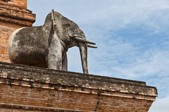Una estatua del elefante Imagenes de archivo