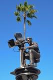 Una estatua en los estudios universales, Hollywood del cineasta fotos de archivo libres de regalías