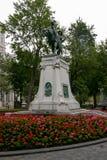 Una estatua en Montreal céntrica Fotos de archivo