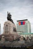 Una estatua mongol en Ulaanbaatar Fotos de archivo libres de regalías