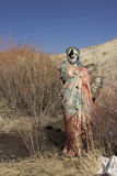 Una estatua religiosa sucia imagen de archivo