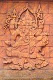 Una estatua tallada de piedra de la escultura de dios indio. Imagen de archivo