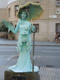 Una estatua viva Imagen de archivo