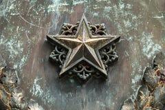 Una estrella de bronce americana aislada con un recortes p Imagenes de archivo