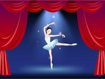 Una etapa con un bailarín hermoso de la bailarina Fotografía de archivo