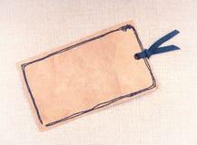 Una etiqueta del papel del vintage Imagen de archivo libre de regalías