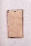 Una etiqueta del papel del vintage Fotografía de archivo