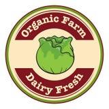 Una etiqueta fresca orgánica de la granja y de la lechería libre illustration