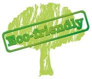 Una etiqueta respetuosa del medio ambiente Foto de archivo libre de regalías