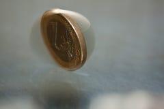 Una euro moneta Fotografie Stock