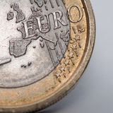 Una euro moneta Immagine Stock