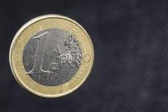 Una euro moneta immagine stock