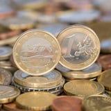 Una euro moneta Finlandia Immagine Stock