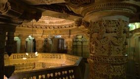 Una exhibición de la albañilería india de un edificio viejo almacen de video