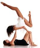 Una fabbricazione dei due delle ragazze danzatori di balletto Immagine Stock
