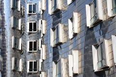 Una facciata d'acciaio Fotografia Stock Libera da Diritti