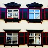Una facciata di quattro finestre in Biberach un der Ris Germania Immagine Stock Libera da Diritti
