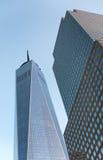 Una facciata di vetro esteriore di un World Trade Center Fotografie Stock Libere da Diritti