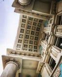 Una fachada en el medio de Odessa, Ucrania Imagen de archivo libre de regalías