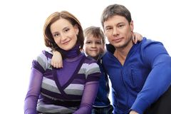 Una famiglia Fotografia Stock Libera da Diritti