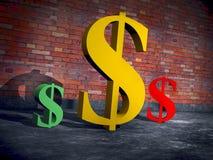 Una famiglia dei marchi del dollaro illustrazione vettoriale