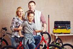 Una famiglia di tre Immagine Stock Libera da Diritti