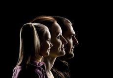 Una famiglia di tre Fotografia Stock Libera da Diritti