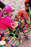 Una famiglia locale da Cusco Fotografia Stock Libera da Diritti