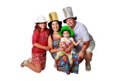 Una familia brasileña feliz Foto de archivo