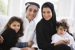 Una familia de Oriente Medio fotos de archivo
