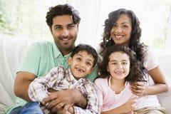 Una familia de Oriente Medio Foto de archivo