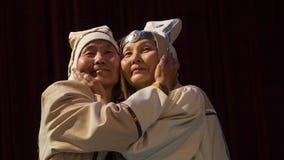 una familia de yakutos mayores Imagen de archivo libre de regalías