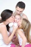 Una familia feliz Imagen de archivo libre de regalías
