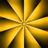 Una fan amarilla en un fondo oscuro Imágenes de archivo libres de regalías
