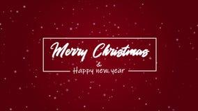 Una Feliz Navidad de la animación del saludo y una Feliz Año Nuevo almacen de metraje de vídeo