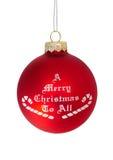 Una Feliz Navidad a todos fotos de archivo libres de regalías