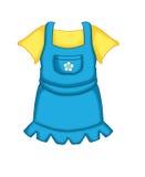 Una femmina 3 del bambino del vestito Fotografia Stock