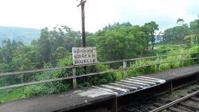 Una fermata del treno Immagini Stock Libere da Diritti