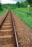 Una ferrovia in Java ad ovest fotografia stock