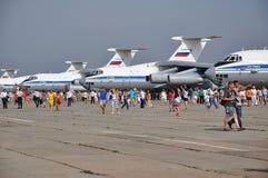 Una festa di 100 anni di aeronautiche militari della Russia Immagine Stock