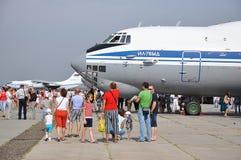 Una festa di 100 anni di aeronautiche militari della Russia Immagini Stock Libere da Diritti