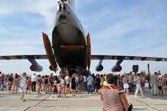 Una festa di 100 anni di aeronautiche militari della Russia Fotografia Stock Libera da Diritti