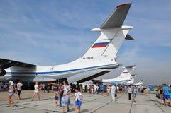 Una festa di 100 anni di aeronautiche militari della Russia Immagini Stock