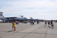 Una festa di 100 anni di aeronautiche militari della Russia Immagine Stock Libera da Diritti