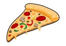 una fetta di pizza Immagini Stock