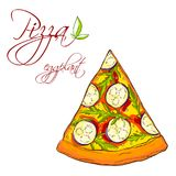 Una fetta di pizza deliziosa Immagini Stock