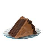 Una fetta di torta di cioccolato fotografia stock