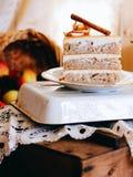Una fetta di torta di mele di autunno Fotografie Stock Libere da Diritti