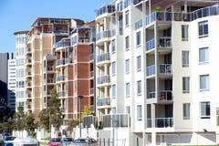 Una fila de apartamentos Imagenes de archivo